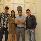 Artistas Josuhe Pagliery, Adislen Reyes, Arián Irsula y Andrey Quintana