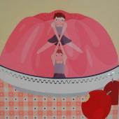 serie Encaje, 2010 / acrílico, collage sobre lienzo / 50 x 50 cm