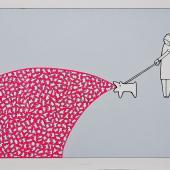 serie Terapia (Nausea), 2015 / Serigrafía, dibujo, acrílico sobre cartulina fabriano 220 gr