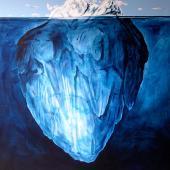 Iceberg, 2013 / Acrílico sobre lienzo / 150 x 130 cm