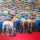 serie El Rebaño.Negación, 2013. Acrílico sobre lienzo / 155 x 200 cm